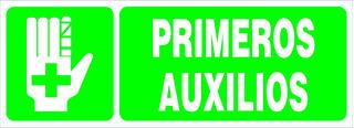 Cartel Primeros Auxilios - Línea Seguridad 14x41 Cm