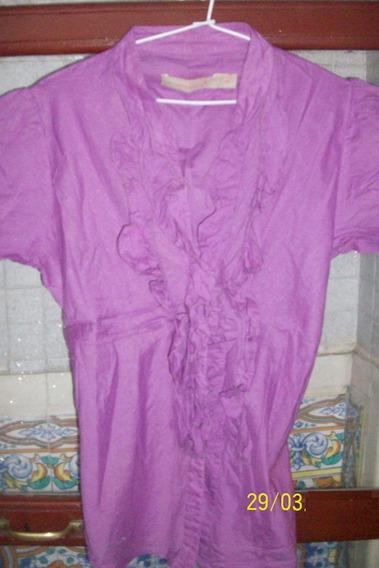 Camisa Lila Violeta. Talle 40. (marca Asterisco)