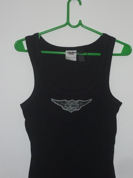 Espectacular!! Musculosa Damas Orig. Harley Davidson- Blackl