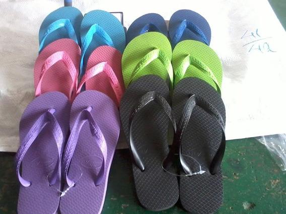 Sandália-chinelo De Borracha Da Fábrica/cor E Nº Variados