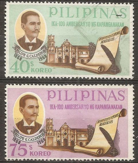 Filipinas Philippines Año 1968 Dos Valores
