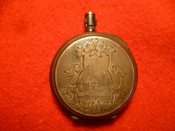 Antigua Caja De Reloj Para Dama En Plata Muy Hermosa.