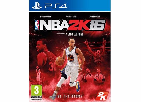 Jogo Novo Esporte Basquete Bola Nba 2k16 Pra Playstation Ps4