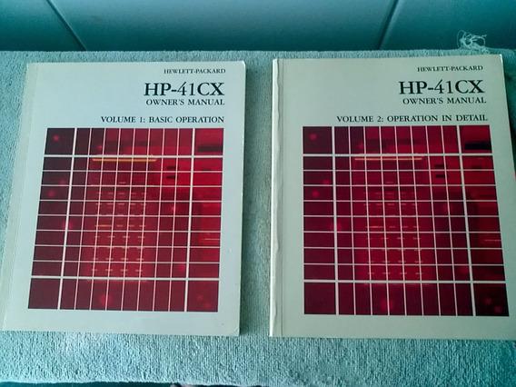 Calculadora Manuais Hp-41cx ( Hp41 Hp-41 Hp-41cv Texas Ti )