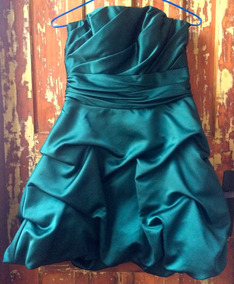Vestido De Festa Verde Tafeta