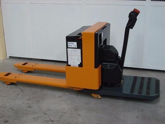 Paleteira Eletrica Com Plataforma Grande P/ 2000 Kg