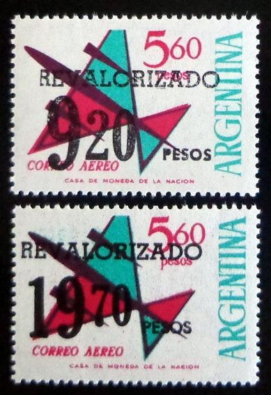 Argentina, Serie Aérea Gj 1699-700 Revalorizad 75 Mint L7421