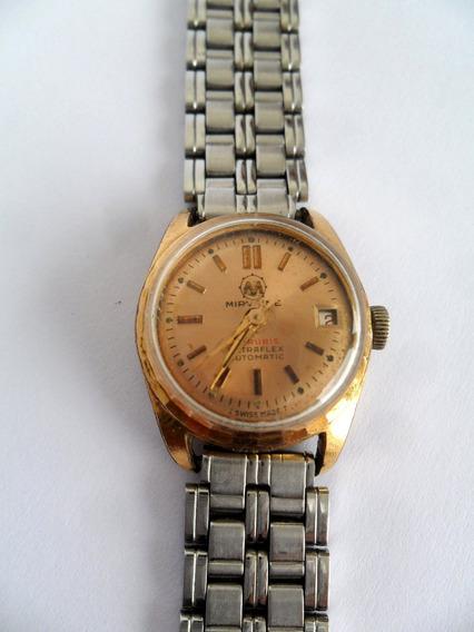 Relógio Mirvaine Corda Ultraflex Plaquê De Ouro 25 Rubis