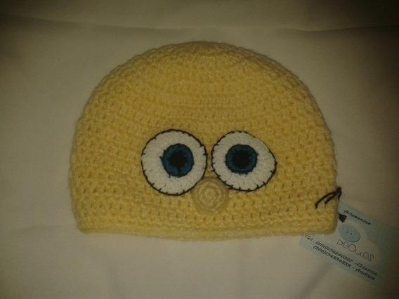 Gorro Tejido A Mano Crochet Bob Esponja