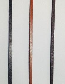 Cordão Tira Couro Sintetico Pulseira Colar 4mm Com 3 Metros