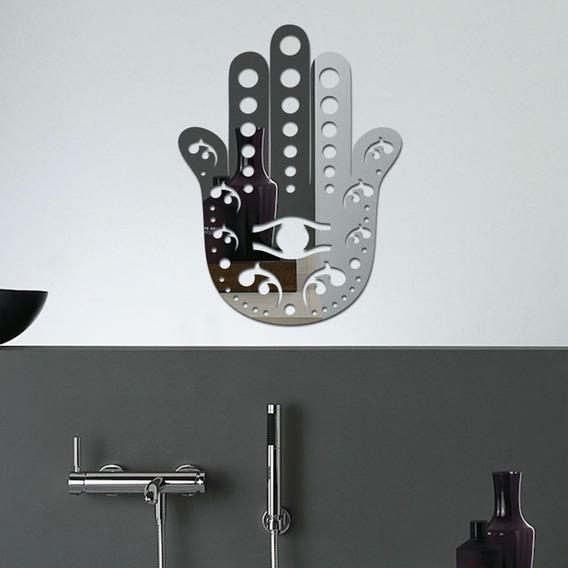 Espelho Decorativo Mão Fátima Quarto Sala Grande 50cm