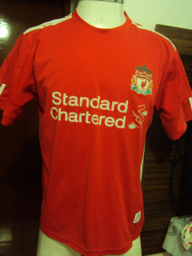Camisa Original Liverpool Vermelha Standard Chartered Tam M Mercado Livre