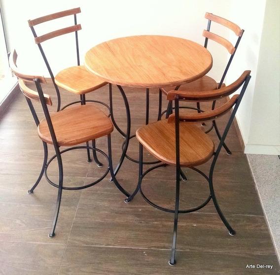 Conjunto De Mesa Com 4 Cadeiras