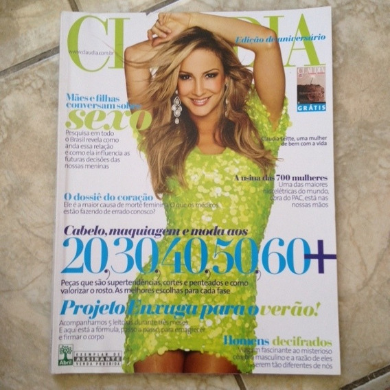 Revista Claudia Out2009 Claudia Leitte Cabelo 20,30,40,50,60