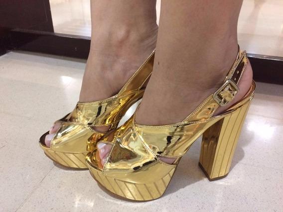 Sandalias Couro Com Verniz Sapatos