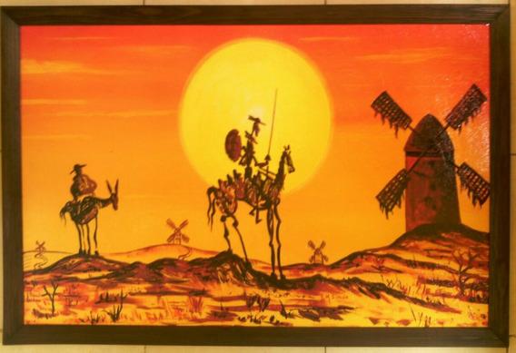 Cuadro Grande Nuevo Quijote Fuego