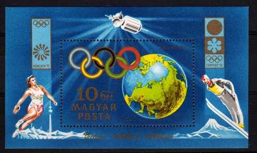 Estampillas Hungria Block 96 Tema Juegos Olimpicos Año 1972