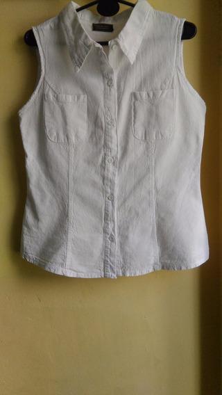 Camisa Sin Mangas,algodon Lienzo Fabrica 40 Al 48 4 Colores