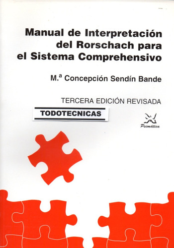 Imagen 1 de 4 de Manual Interpretacion Rorschach Sistema Comprehensivo Exner