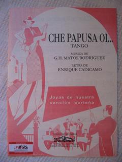 Partitura G. H. Matos Rodríguez - Che Papusa Oí