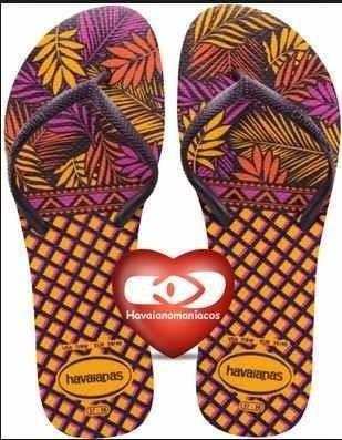 Havaianas Flat Violeta Y Naranja Nuevas 39-40