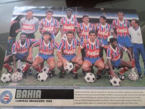 2 Poster Placar Bahia Campeão Brasileiro 1988 1959 21x27cm