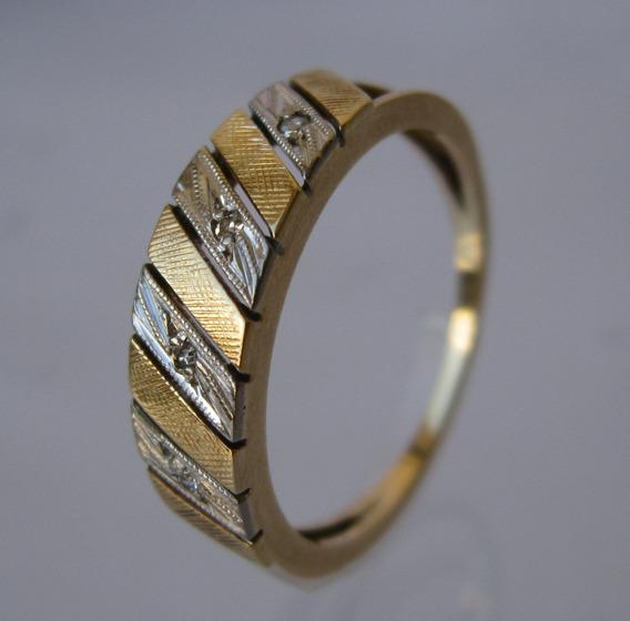 Anel Ouro Brilhantes 18k Aro 15 - (ref. 071)