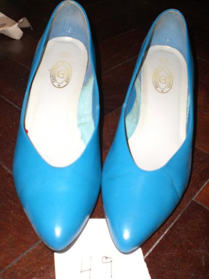 Zapatos De Mujer Usados, Num 39, Cuero *