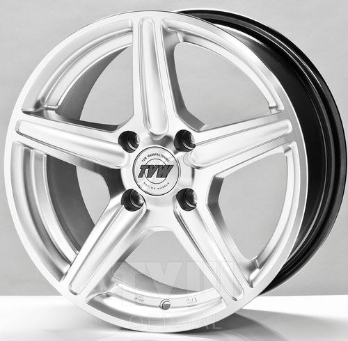 Kit X 4 Llantas Tvw Winner R14 + 4x108 Ford Peugeot + Envio