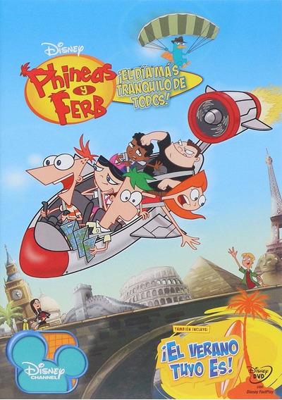 Phineas Y Ferb El Dia Mas Tranquilo De Todos Pelicula Dvd