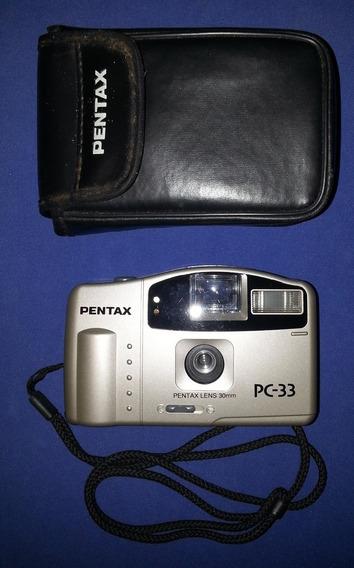 Pentax Pc33 Camara Fotografica 35 .mm .con Estuche De Piel