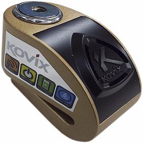 Trava De Disco De Freio Moto Com Alarme Kovix Cor: Dourada