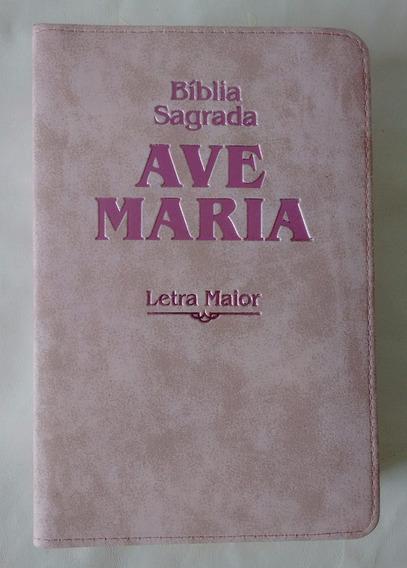 Kit 02 Bíblia Sagrada Strike Rosa Letra Maior + Marrom Zíper
