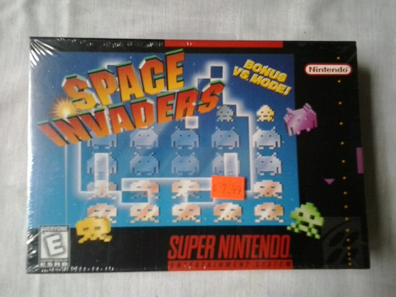 Jogo Super Nintendo Space Invaders Lacrada Cartucho Nintendo