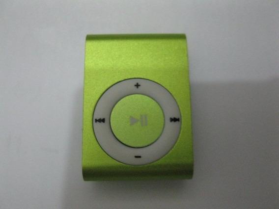Mini Leitor Leitor Tf Sd - Função Mp3 Com Clipe Verde