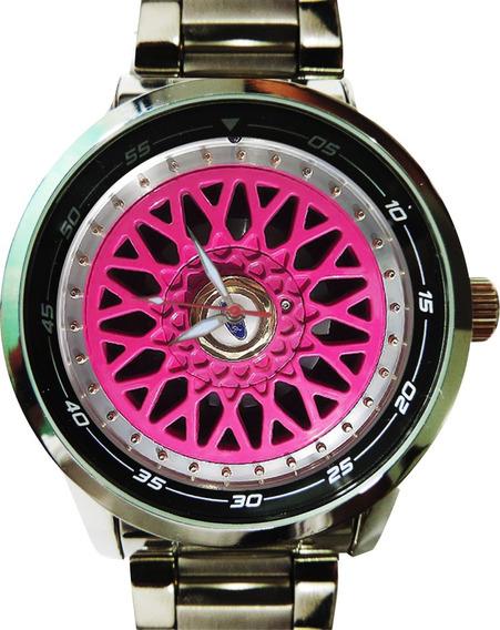 Relógio Roda Bbs Rosa Cód.5521g Gol Gti Gts Original Novo