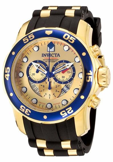 Relogio Invicta Pro Diver 6981 - Ouro 18k