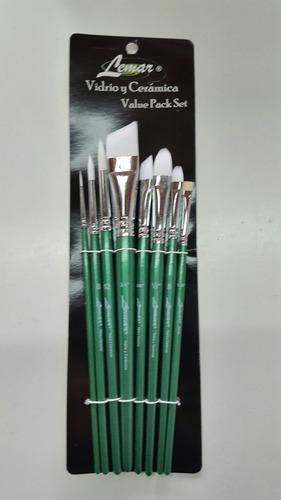 Pinceles White Toray Set X 7 Acrílico, Vidrio,ceramica