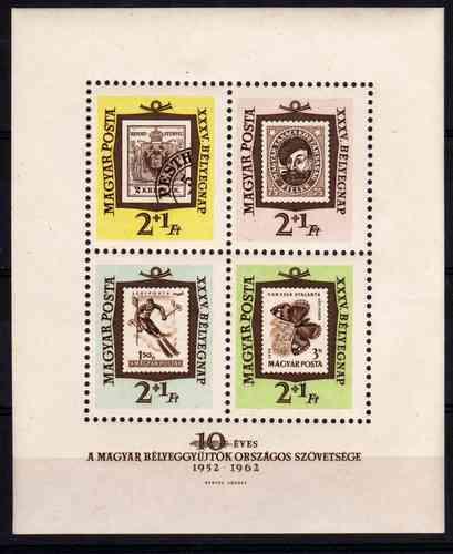 Estampillas Hungria Block 42 Tema Sello Sobre Sello Año 1962