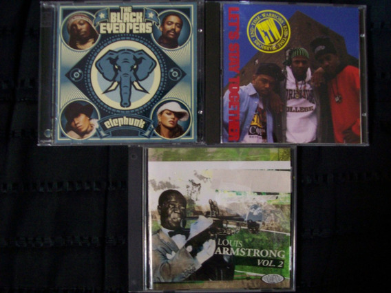 Lote 3 Cd´s Variados - Black Eyed Peas - Louis Armstrong...