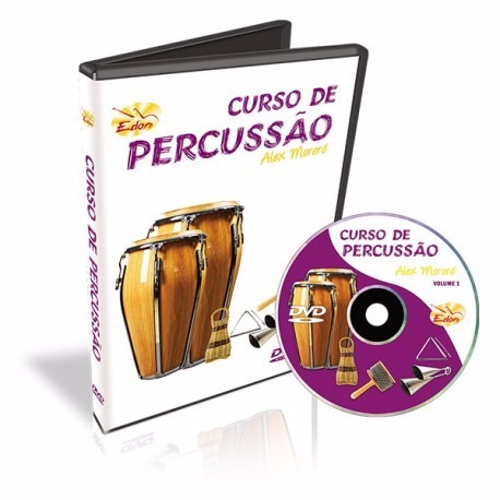 Dvd Video Aula Curso De Percussão Vol 1 Alex Mororó
