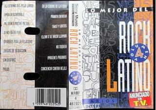 Cassette Lo Mejor Del Rock Latino Vol 4