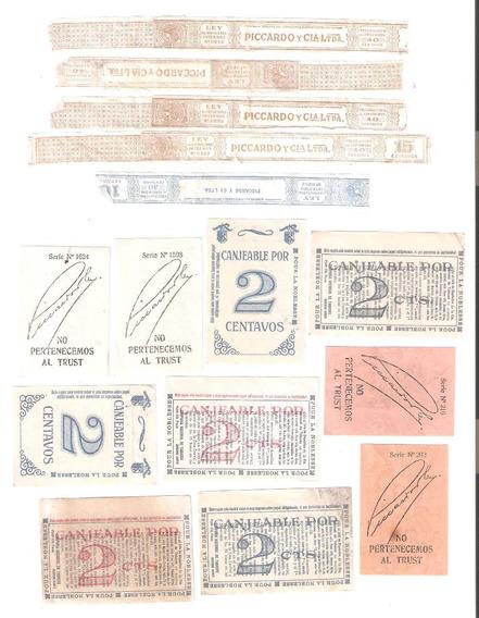 Lote De 15 Etiqueta Y Cuopones Cigarrillo 40 Años 1930 Aprox