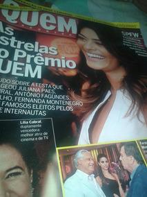Revista Quem Janeiro 2010 Juliana Paes Hebe Camargo
