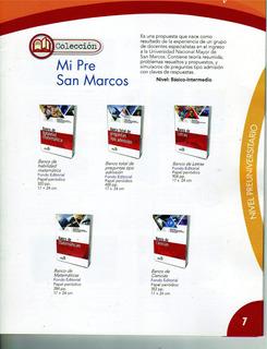 Colección Mi Pre San Marcos Nuevos Originales 5 Libros