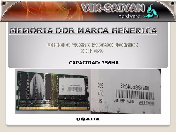 Memoria Ddr Generica 256mb Pc-3200 400mhz 8 Chips 21