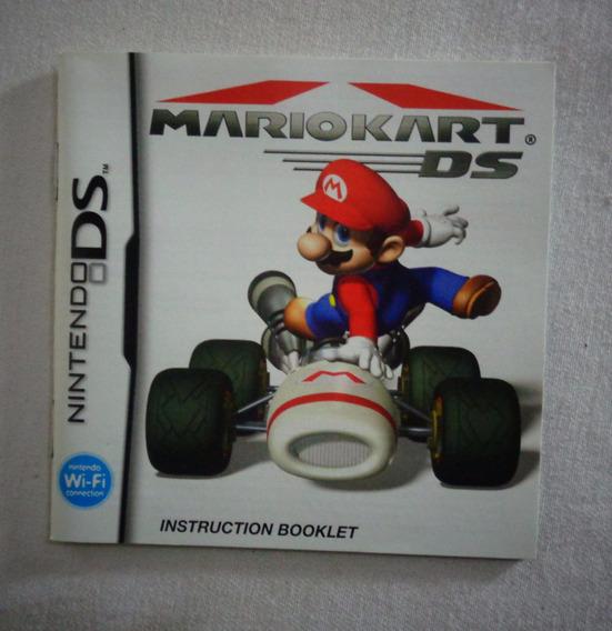 Mario Kart Nintendo Folheto Video Game Jogo Instruções