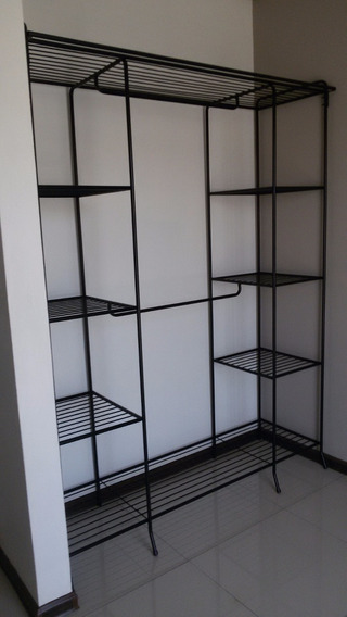 Closet Grande Con Doble Torre Y Doble Perchero