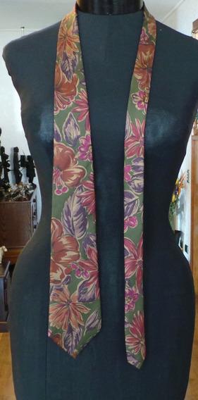 Christian Dior Corbata Vintage Seda Estampado Floral
