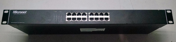 Switch Micronet 16 Puertos Rackeable Con Falla